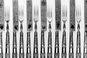 19th-Century Decorated Forks and Knives